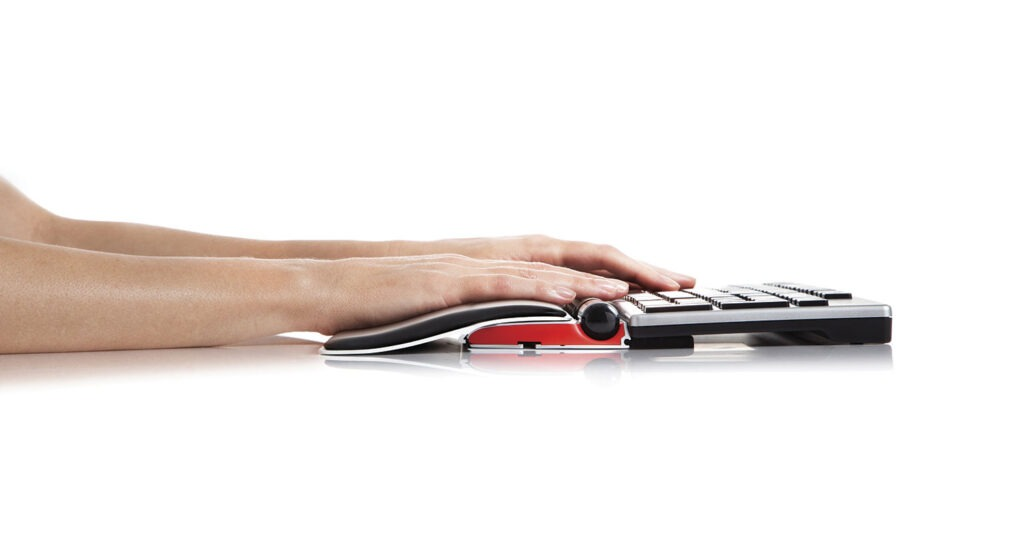RollerMouse Red + Red plus palm support